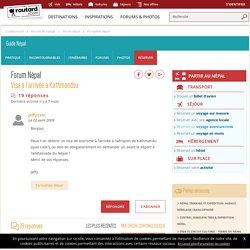 Visa à l'arrivée à Kathmandou : Forum Népal