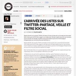 L'arrivée des listes sur Twitter: partage, veille et filtre soci