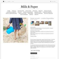 Milk & Paper — Grand panier arrondi (bientôt de retour)