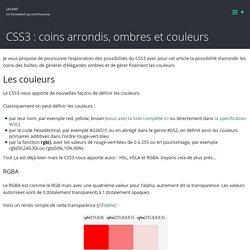 CSS3 : coins arrondis, ombres et couleurs – Laravel