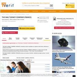 Société THE WALT DISNEY COMPANY (FRANCE) à Paris 13e Arrondissement (Chiffre d'affaires, bilans, résultat) avec Verif.com - Siren 401253463