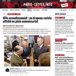 XIVe arrondissement : un drapeau raciste affiché en plein commissariat