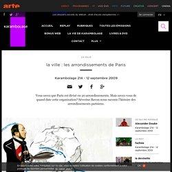 la ville : les arrondissements de Paris
