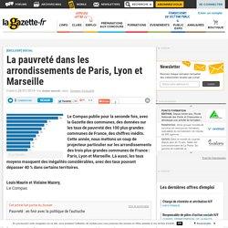 La pauvreté dans les arrondissements de Paris, Lyon et Marseille