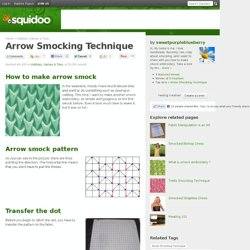 Arrow Smocking Technique
