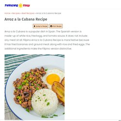 Arroz a la Cubana Recipe