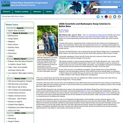 USDA 21/06/16 USDA Scientists and Beekeepers Swap Colonies to Better Bees