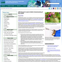 ARS USDA 02/08/16 ARS Research Leads to Better Understanding of Bee Health