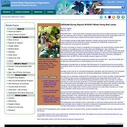 ARS USDA 23/05/11 USDA/AIA Survey Reports 2010/2011 Winter Honey Bee Losses