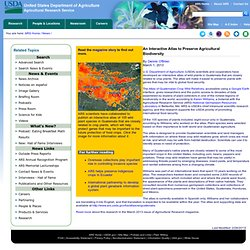 ARS USDA 01/03/13 An Interactive Atlas to Preserve Agricultural Biodiversity