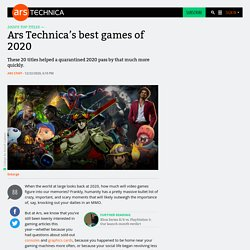 Ars Technica's best games of 2020