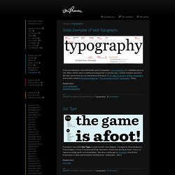 Ars Thanea Blog » Typography