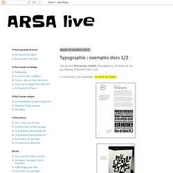 Typographie : exemples docs 1/2