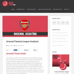 Arsenal Fantasy League Analysis