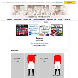 Arsenal - Historical Football Kits