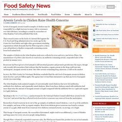 Arsenic Levels in Chicken Raise Health Concerns