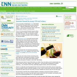 Arsenic found in many US red wines