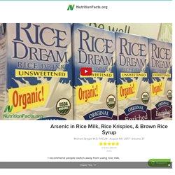 Arsenic in Rice Milk, Rice Krispies, & Brown Rice Syrup