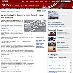 Arsenic-loving bacteria may help in hunt for alien life