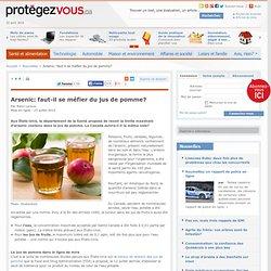 Arsenic: faut-il se méfier du jus de pomme?