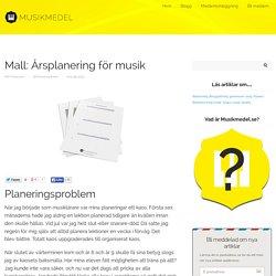 Mall: Årsplanering för musik - Musikmedel.se