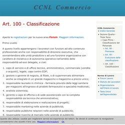 Art. 100 - Classificazione