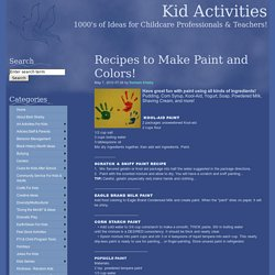 Art: 40 Paint & Coloring Recipes
