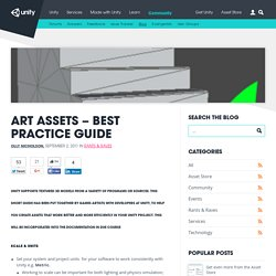 Art Assets – best practice guide