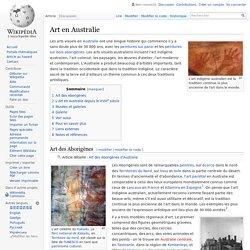 Art en Australie