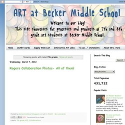 Art at Becker Middle School: 7th grade