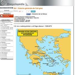 Art : histoire générale de l'art grec
