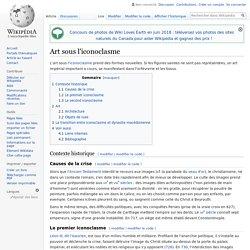 Art sous l'iconoclasme