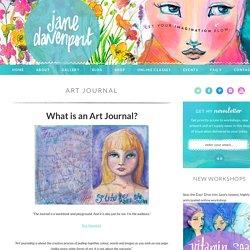 art journal, art journaling, online workshops, drawing, jane davenport