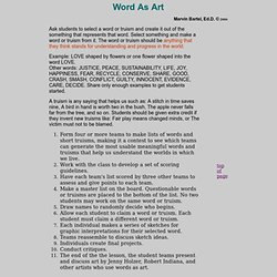 Art Lesson Using Words