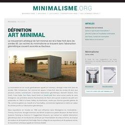 Art minimal - Définition