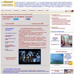 l'art numérique ou art digital : sommaire