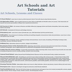 Art Schools and Art Tutorials