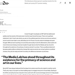 Art, Science, and the Media Lab — MIT Media Lab