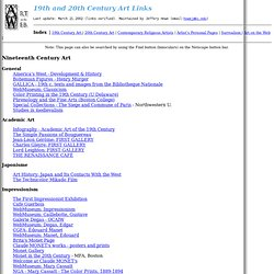 Art Web Sites: 19th and 20th centuries