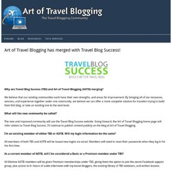 Art of Travel Blogging: The Travel Blogging Community