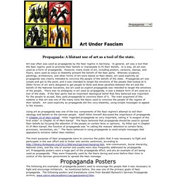 Art Under Fascism: Propaganda