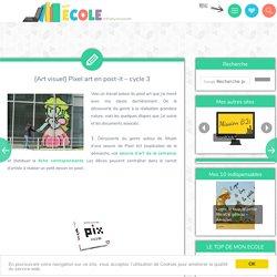 [Art visuel] Pixel art en post-it – cycle 3