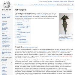 Art wisigoth