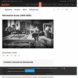 Révolution école (1918-1939)