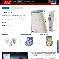 Artec 3D Scanner for Textured Scans