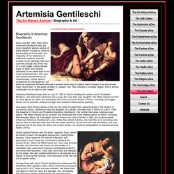 Artemisia Gentileschi - Biography & Art
