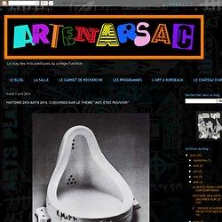 """HISTOIRE DES ARTS 2014: 3 OEUVRES SUR LE THÈME """"ART, ÉTAT, POUVOIR"""""""