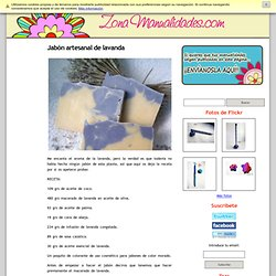 Jabón artesanal de lavanda - Zona Manualidades