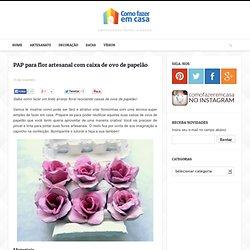 PAP para flor artesanal com caixa de ovo de papelão