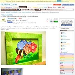 Cuadros artesanales para decoración de cuartos infantiles
